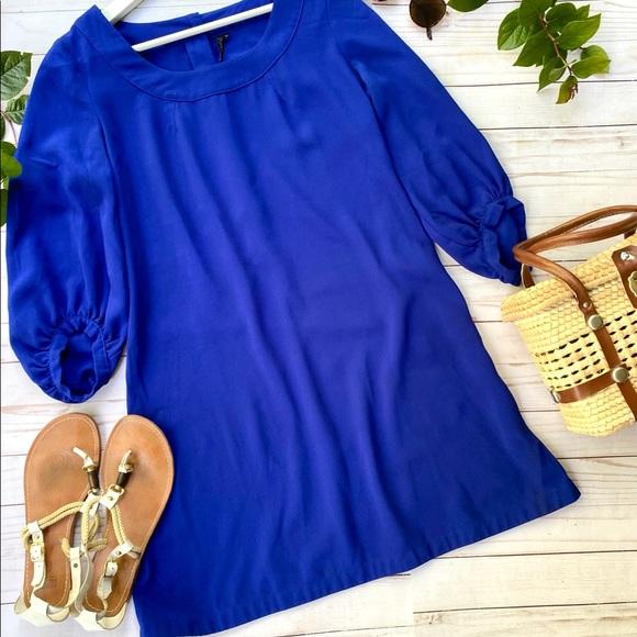 Topshop back button dress